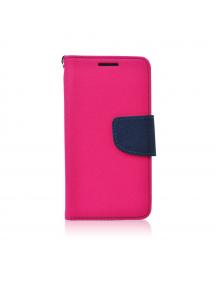 Funda libro TPU Fancy Huawei Ascend Y7 rosa - azul