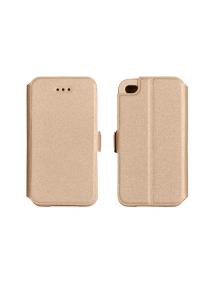 Funda libro Pocket Huawei Y6 2 dorada