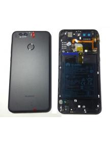 Carcasa trasera Huawei Nova Plus 2 (BAC-L21) negra