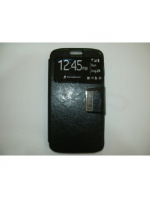 Funda libro TPU S-view Alcatel A3 5046D - Vodafone N8 negra