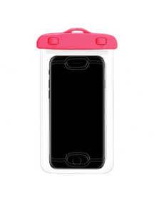 Bolsa impermeable Usams YD009 waterproof con sensor de huella rosa