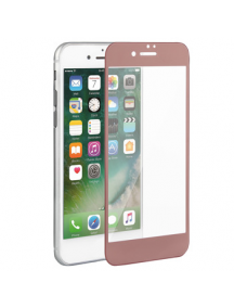 Lámina de cristal templado 5D iPhone 6 - 6s rosa - dorada
