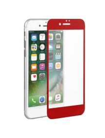 Lámina de cristal templado 5D iPhone 7 Plus - 8 Plus roja