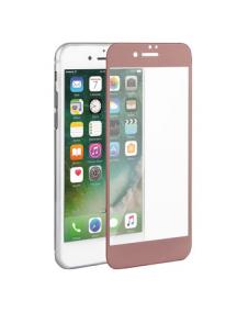 Lámina de cristal templado 5D iPhone 7 - 8 rosa - dorada