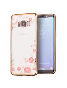Funda TPU Bloomy Flower Samsung Galaxy S8 G950 dorada