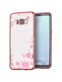 Funda TPU Bloomy Flower Samsung Galaxy S8 Plus G955 rosa