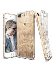 Funda TPU Ringke Air Prism 3D glitter iPhone 8 Plus - 7 Plus transparente