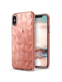 Funda TPU Ringke Air Prism 3D iPhone X rosa - dorado