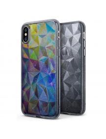 Funda TPU Ringke Air Prism 3D glitter iPhone X gris