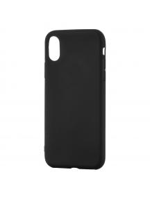 Funda TPU Soft Matt iPhone X negra