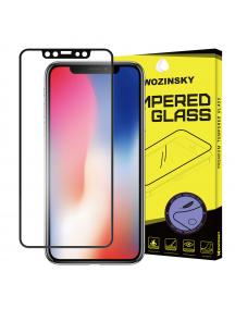 Lámina de cristal templado Wozinsky iPhone X negro