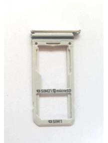 Zócalo de SIM + SD Samsung Galaxy S8 Dual G950 plata