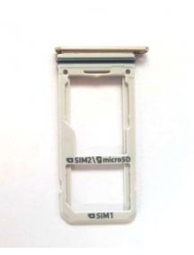 Zócalo de SIM + SD Samsung Galaxy S8 Dual G950 dorado