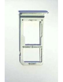 Zócalo de SIM + SD Samsung Galaxy S8 Plus Dual G955 plata