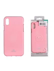 Funda TPU Goospery iPhone X rosa claro