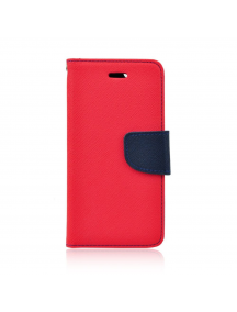 Funda libro TPU Fancy Huawei Honor 6A - 6A Pro roja - azul