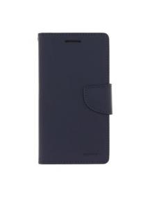 Funda libro TPU Goospery Bravo Diary iPhone X azul