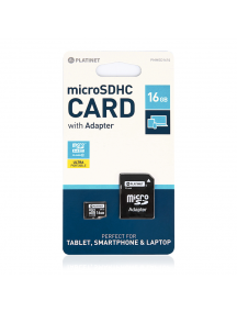 Tarjeta de memoria micro SD Platinet 16GB clase 10 con adaptador