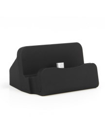 Base de carga universal micro USB Alu negra