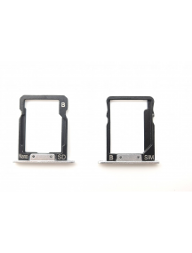 Zócalo de SIM + micro SD Huawei Ascend P8 Max plata