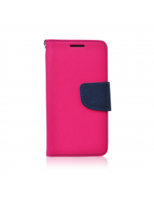 Funda libro TPU Fancy Nokia 3 2017 rosa - azul