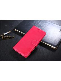 Funda libro TPU Huawei Honor 7X rosa