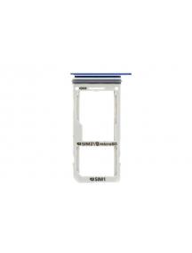 Zócalo de SIM + micro SD Samsung Galaxy Note 8 N950 azul