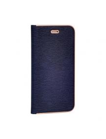 Funda libro Vennus Samsung Glaxy A5 2018 A530 - A8 2018 azul
