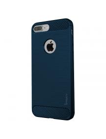 Funda TPU Carbon iPaky iPhone 7 Plus - 8 Plus azul