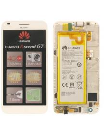Display Huawei Ascend G7 blanco original