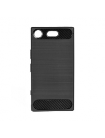 Funda TPU Forcell Carbon Sony Xperia XZ1 Compact G8441 negra