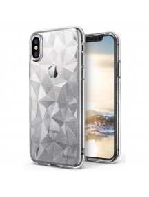 Funda TPU Ringke Air Prism 3D glitter iPhone X transparente