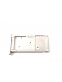 Zócalo de SIM + micro SD Huawei Ascend Y7 plata