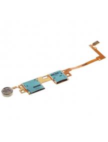 Cable flex de lector de sim + SD + vibrador Samsung Galaxy Note 10.1 2014 P605 - T525
