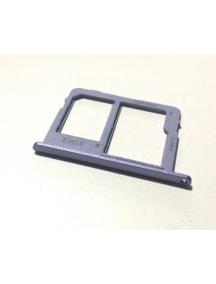 Zócalo de SIM + tarjeta de memoria micro SD Samsung Galaxy J6 2018 J600F lavanda