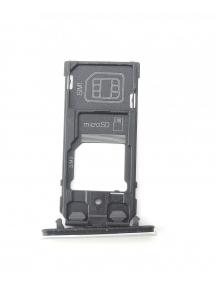 Zócalo de SIM + micro SD Sony Xperia XZ2 Compact H8324 plata