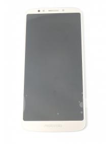 Display Motorola Moto E5 dorado