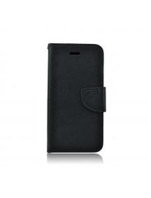 Funda libro TPU Fancy Samsung Galaxy A6 Plus A605 negra