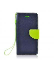 Funda libro TPU Fancy Samsung Galaxy A6 Plus A605 azul - lima