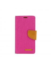 Funda libro Goospery Canvas Huawei Mate 20 lite rosa - camel