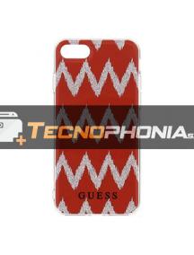 Funda TPU Guess Ethnic Chic Chevron 3D GUHCP7CGRE iPhone 7 -8 roja