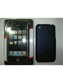 Protector de pasta Apple iPhone azul - negro
