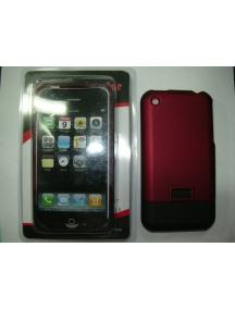Protector de pasta Apple iPhone rojo - negro