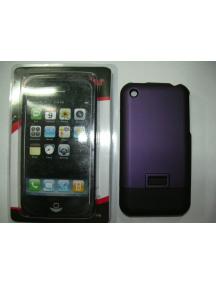 Protector de pasta Apple iPhone lila - negro