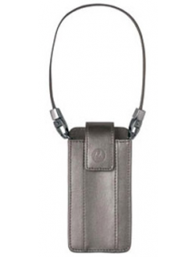 Funda de piel Motorola CFLN1816AA L7 - L6 - L2 plata