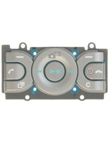 Teclado de navegación Sony Ericsson W595 gris - azul