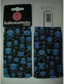 Funda - Calcetín Kukuxumusu calaberas azul - negro