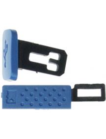 Juego de pestañas laterales Nokia 5320 azul