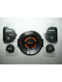 Teclado Sony Ericsson W580i superior negro