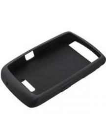 Funda silicona Blackberry 9500 Storm negra sin blister